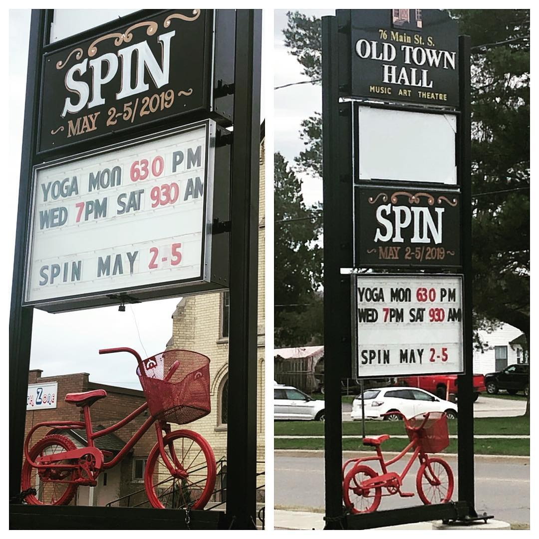 SPIN Sign at Old Town Hall, Waterford