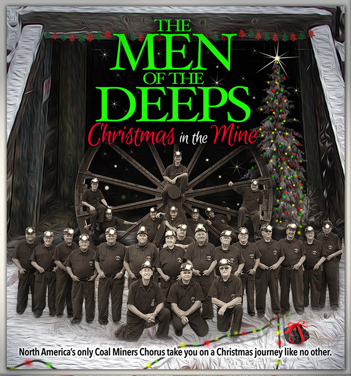 Men of the Deeps Christmas Concert Poster