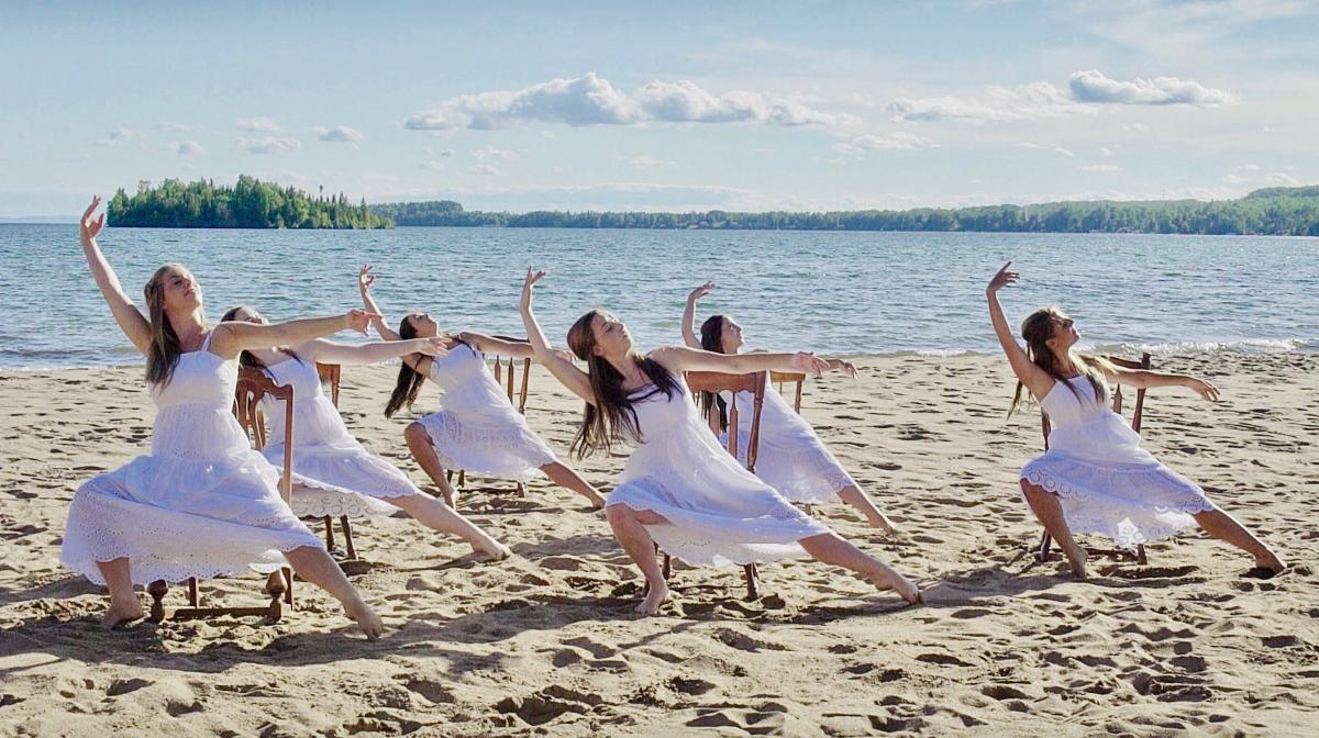 Dancers Alisia Cameron, Denise Malette, Amber Priscott, Maggie Wilberforce, Cassandra Rhodes, and Harmony Appell