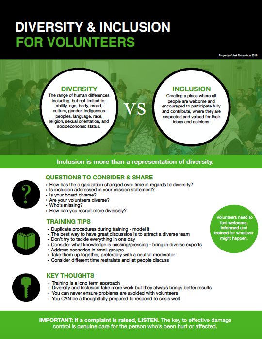 Diversity and Inclusion for Volunteers Handout